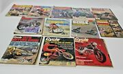 Lot Of 12 Vintage Motorcycle Magazines Motorcross Action Cycle World Dirt Wheels
