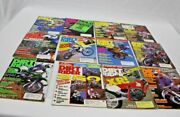Lot Of 12 Vintage Dirt Rider Magazines Motor Cross Motorcycle All Months Of 1989