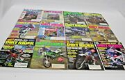 Lot Of 12 Vintage Dirt Rider Magazines Motor Cross Motorcycle All Months Of 1990