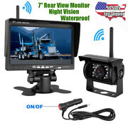 Wireless Night Vision Rear View Back Up Camera + 7 Hd Monitor For Truck Bus