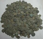 24 Ancient Roman Ae4 Coins - Uncleaned And Unresearched