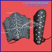 Leather Studded Medieval Bracers Pair Gauntlet Arm Guard Archery Armor Guards