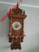 German Fhs Hermle Westminster Chime Wall Clock 0373