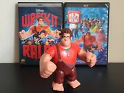 Wreck-it Ralph / Ralph Breaks The Internet Dvd Lot With Action Figure