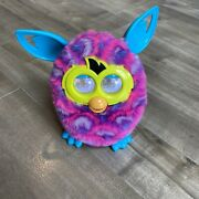2012 Furby Boom Interactive Toy Pink Purple Teal French Clean Working