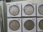 World Foreign Silver Coins X 20 All Mexico 15