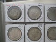 World Foreign Silver Coins X 20 All Mexico 16