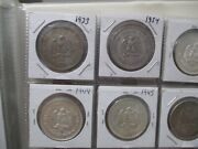World Foreign Silver Coins X 20 All Mexico One Peso 17