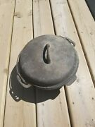 1930s Griswold Iron Mountain 8 Cast Iron Dutch Oven No.1036 C With Lid 1037 A
