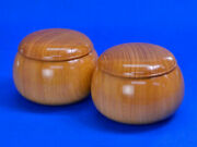 Wooden Go Bowls Zelkova Large Are Popular And Delicious Staple Shogi Specialty