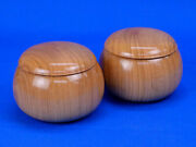 Wooden Go Bowls Cherry Blossom Large Bowl Of Fox Brown With Little Peach Color