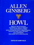 Howl Original Draft Facsimile, Transcript And Variant By Allen Ginsberg Excellent