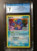 Squirtle Holo Stamped 64/100 Cgc 8.5 Nm Ex Crystal Guardians 2006 Psa Comp