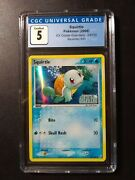 Squirtle Holo Stamped 63/100 Cgc 5 Ex Crystal Guardians Pokemon 2006 Psa Comp