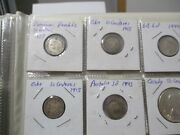 World Foreign Silver Coins X 26 Britain Canada Germany Austria France Us 58