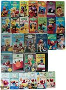 Sesame Street Muppet Vhs Video Tape Collection Pbs Rare Oop Vintage Lot 30 Ctw