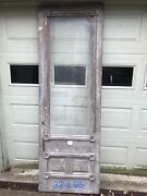 Very Early Antique Eastlake Entry Door. 32x95. Nice Condition. Wavy Glass.