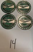 Zenith Wire Wheels Chips Emblems California Green 14 Chrome Size 2.25andrdquo