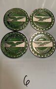Zenith Wire Wheels Chips Emblems California Green 6 Chrome Size 2.25andrdquo