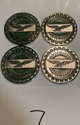 Zenith Wire Wheels Chips Emblems California Green 7 Chrome Size 2.25andrdquo