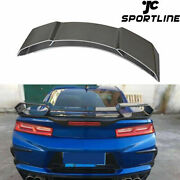 Fit For Chevrolet Camaro Coupe 16-18 Rear Trunk Spoiler Big Wing Carbon Fiber