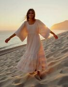 New Christy Dawn Ria Maxi Dress Xs/s Flax Cream Htf Very Rare Sold Out Style