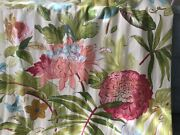 Gorgeous High Quality 2 Custom Made Floral Pinch Pleated Drapes Curtains 🌺