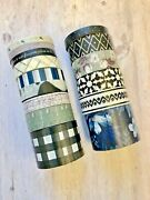 15 Rolls Farmhouse Floral Buffalo Check Washi Tape Tube Papercraft Planner Tape