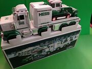 2013 Hess Gasoline Holiday Toy Truck And Tractor- Lights And Sound - Mint In Box