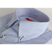 Menand039s Shirts 100 Cotton Handmade Manufacturing Made In Italy 39-46 Striped Regu