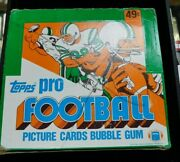 1982 Topps Football Wax Cello Complete 24 Tight Pack Original Box