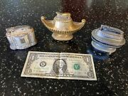 3 Vintage Automatic Table Lighters