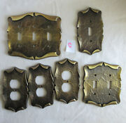 Vintage Amerock Carriage House Lot Of 6 Outlet And Switch Plates Assorted
