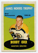 Bobby Orr Opc O-pee-chee 1969-70 209 James Norris Trophy For 1968-69