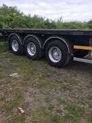 Overlander 2004 Tri Axle Flat Trailer With Post And Sockets Drum Brakes