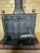 Franklin Wood Burning Stove Fireplace Cast Iron Free Standing Heating