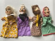 Mr. Rogerand039s Vintage Wood Carved German Puppets-7andrdquowide X 12andrdquohigh-1960and039s