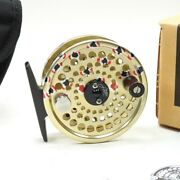 Abel Tr2 Fly Fishing Reel. Brown Trout Finish. Made In Usa. W/ Box And Case.