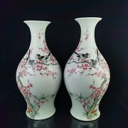 15.6and039and039 China Five-colored Porcelain Vase Bottle Pottery Flower Bird Vase