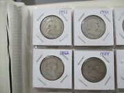World Foreign Silver Coins X 20 United States Franklin Half Dollars X 19 87