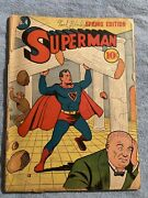 Golden Age Superman 4 With Detached Covers