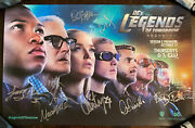 Sdcc 2016 Dc Legends Of Tomorrow Cw Cast Signed Autographed Poster Print