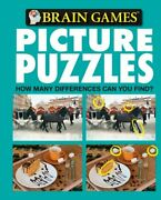 Brain Games Picture Puzzles How Many Differences Can You By Publications Mint