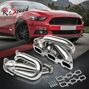 Stainless Steel Shorty Header Exhaust Manifold W/gasket For 11-17 Mustang 3.7 V6