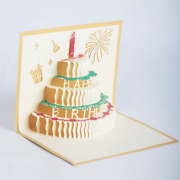 100x Pop Up 3d Paper Greeting Card Surprise Moms Happy Birthday Sweet Gift Cards