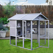 Pigeon Cage Large Bird Cage Outdoor Parrot Cage Bird Aviary Wooden Dove House