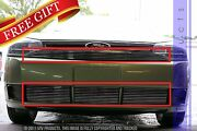 Gtg 2008 - 2011 Ford Focus 4pc Polished Overlay Combo Billet Grille Grill Kit