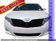 Gtg 2009 - 2014 Toyota Venza 2pc Gloss Black Replacement Billet Grille Grill Kit