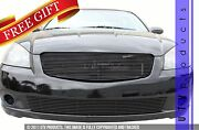 Gtg Gloss Black 2pc Replacement Billet Grille Fits 2005 - 2006 Nissan Altima
