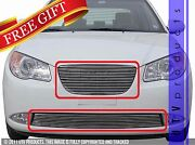 Gtg Polished 4pc Replacement Billet Grille Fits 2007 - 2010 Hyundai Elantra